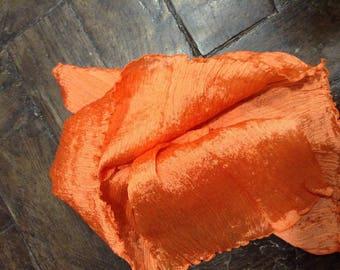 Orange coral plain pleated coupon