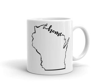 Wisconsin Home State - Coffee Mug