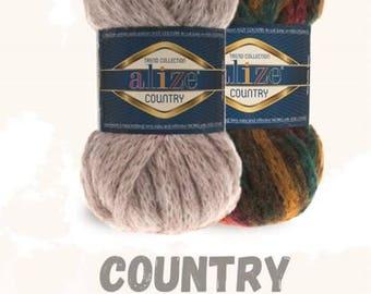 Alize Country New, Wool yarn, super bulky yarn,acrylic yarn, Knitting yarn, Soft yarn, winter yarn, crochet yarn