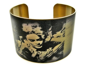 Frida Kahlo cuff bracelet brass adjustable Free Shipping to USA Gifts for her