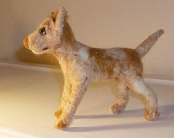 Needle Felted Australian Red Heeler Cattledog
