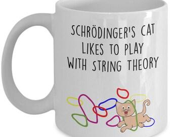 Schrodinger's Cat Mug - Funny Tea Hot Cocoa Cup - Novelty Birthday Christmas Anniversary Gag Gifts Idea
