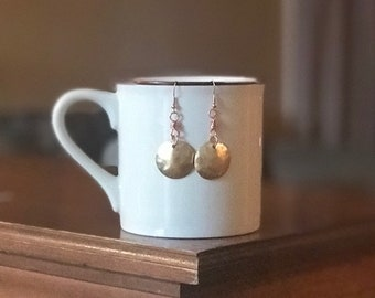 Mixed metal earrings, bohemian earrings, geometric jewelry, boho dangle earrings, geometric earrings,boho jewelry, mixed metal jewelry