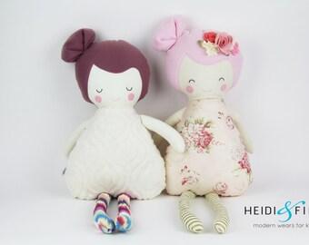 NEW Pillow dolls Vintage FLORAL keepsake gift OOAK ready to ship