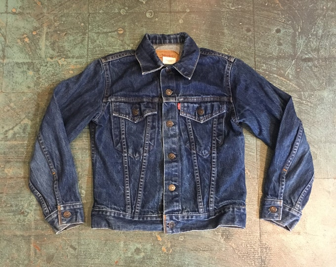 Featured listing image: Vintage 80s 90s LEVIS red label denim jacket // youth size 14 women's XS