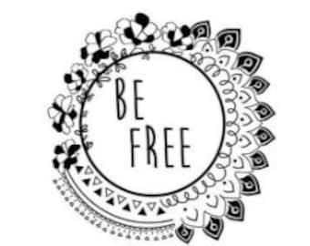 Be Free Temporary Tattoo