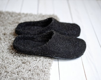 felted slippers - felted wool slippers - boiled wool slippers - slippers women - felt slippers women - house slippers - men wool slippers