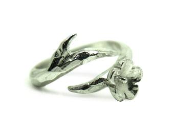 Sterling silver cherry blossom ring