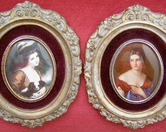 Vintage Cameo Creation Gorgeous Pictures - Pauline Bonaparte and Lady Hamilton
