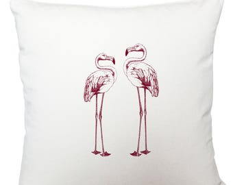 Cushions/ cushion cover/ scatter cushions/ throw cushions/ white cushion/ flamingos cushion cover