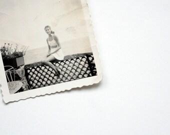 1940's Swim Suit Photographs - The Bathing Beauties -  Fabulous Bathing Suits, Black and White Outdoor Scenes, Vintage Swim Wear