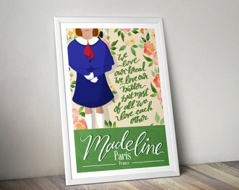 Madeline, Paris France Poster Print / Part 2. Children of Literature Series