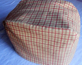 Yellow checkered print cotton 2 slice toaster cover, ready to ship
