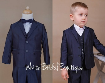 Ring bearer suit Navy wedding suit Holy communion suit Wedding suit Ring bearer outfit Boy formal wear Toddler suit Boy outfit size 4T