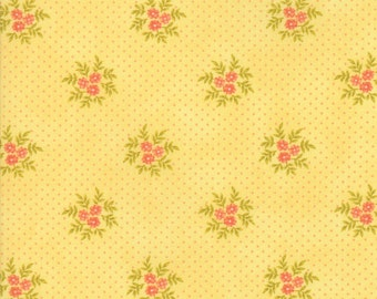 Ella and Ollie - Posies in Daisy Yellow: sku 20307-18 cotton quilting fabric by Fig Tree and Co. for Moda Fabrics