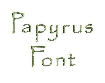 Papyrus Satin Script Digitized Machine Embroidery Font Upper and Lower Case -Instant Download-1,2,3 inches