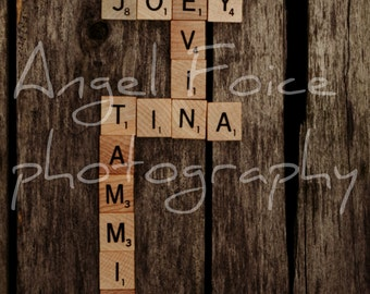 Custom Scrabble Family Names Photograph