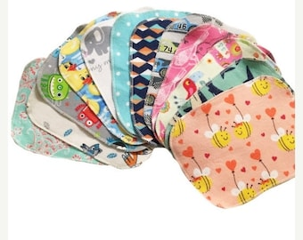 Memorial Day Sale Sale - Geheimnis Set - 6 x 8 süße Spulen Tuch Tücher Starterset von 12 Tücher - Double Layer Flanell - 6 x 8