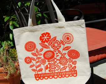 Cotton Canvas Garden Tote