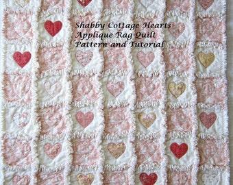 Applique Tutorial | Quilt Pattern | PDF Pattern | Instant Download | Heart Pattern | Charm Pack Pattern | Digital Download