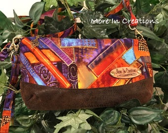 The Clematis Clutch, Bag, purse, Wallet, change purse, cosmetic bag, cell phone carrier/crossbody shoulder bag.
