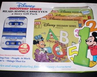 Walt Disney 1985 Discovery Serie 4 Story Geschenk verpacken Read-Along-Kassetten & Bücher Fabrik versiegelt