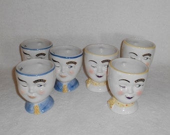 Baileys Winking Face Irish Coffee Mugs 1997 Limited Edition 3 Each Him & Her ~ Set of 6