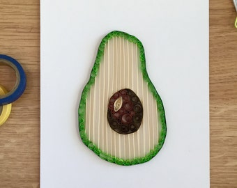 Quilling Paper Avocado Home Decor, Gift for Foodies, Good Gift for a Chef, Gift for People Who Love to Cook, Buy Avocados, Avocado Gifts