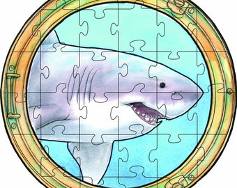 Great White Shark Children's Puzzle