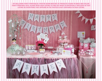 Ballerina Birthday Party, DIY Ballet Party Decoration, DIY Ballerina Party Printables, Ballet Birthday Party -By Printables 4 Less