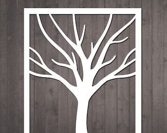 Tree Papercut Template -  diy paper cut