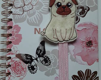 Amazing Cute Pug Planner Band. Planner Gifts.  Stationery.  Bookmark.  Page Marker.