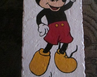 Mickey Mouse hand painted brick!  Must see!