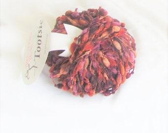 Tootsie 603, Trendsetter yarn, Harvest Browns, poofs, boucle, novelty yarn, destash yarn