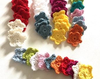 50 crochet stars mixed pack