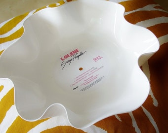 White Record Bowl / Colored Record Bowl / Candy Dish / Sculpture / White / Make Up Storage / Catch All / Modern / Chic / SEXY PEOPLE Label
