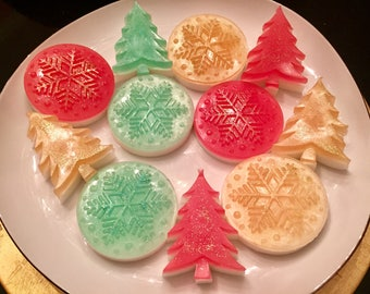Christmas Soap Set. Christmas gift. Stocking Stuffers.