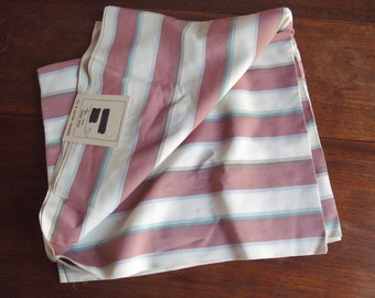 """1930's/40's UNUSED SILK-Absolutely orig.vtg.length(1.75 yards x 36"""" )+orig.LABEL-Kendal Milne-striped in pastel shades-One owner.Excellent."""