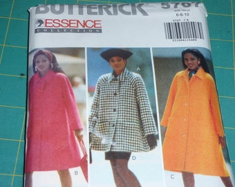 Butterick 5707 Essence Collection Misses Coat Lined Size  6-8-10 New Uncut