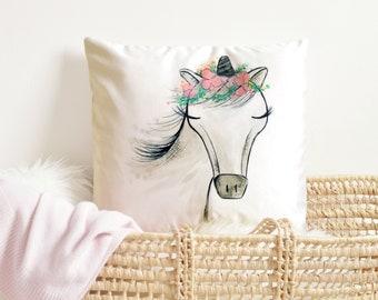 Unicorn Girls Room Decor, Unicorn Decorative Pillow, Unicorn Pillow Cover, Unicorn Pillow Case, Unicorn bedding, Unicorn Nursery decor