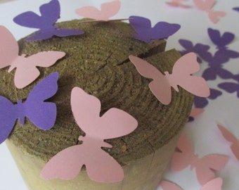 Purple and Blush Pink Paper Butterfly Die Cuts, Wedding Butterflies, Butterfly Theme Party, Baby Gild Shower Butterflies, Butterfly Cut Outs