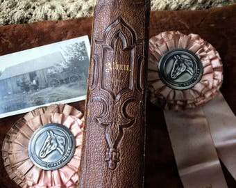 A Small Leather Antique Photo Album Ready To Hold Your Story
