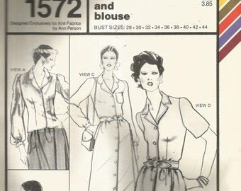 Stretch & Sew Tailored Dress and Blouse Pattern 1572