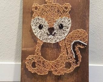 String Art Woodland Squirrel