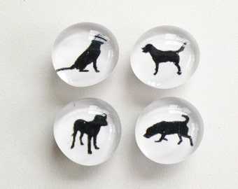 SALE - Good Dog Magnets - slightly seconds - set of 4
