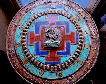 Old Tibetan Copper Wall Mandala