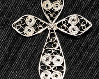 N5 Cross in silver filigree hand-crafted