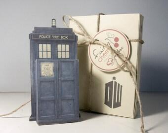 Tardis Doctor Who emotibox, geek greeting card, fridge magnet, season greetings wishes, doctor who birthday card, doctor who gift, geek card