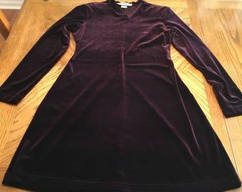 Vintage burgundy velvet dress size 2