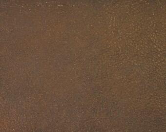 Coupon of lambskin leather velvet aged